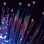 Optical fibres wallpaper