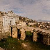 View from city walls of Bergamo(Italy)