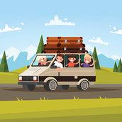 Family car trip wallpaper