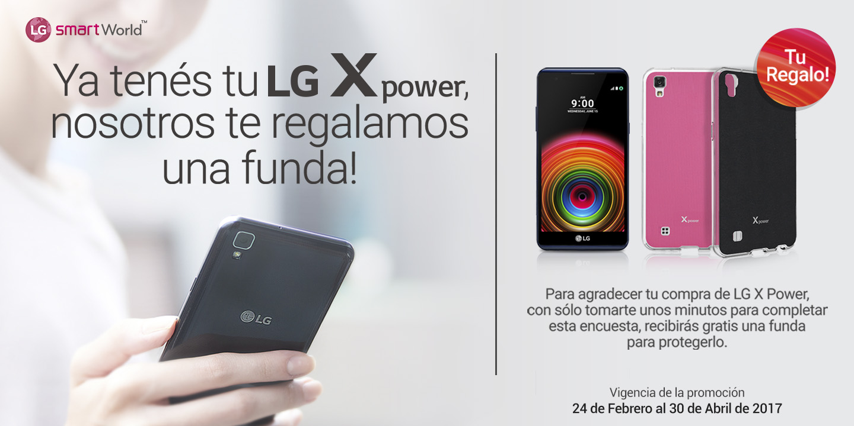 [Ya tenés tu LG X power, nosotros te regalamos una funda!]