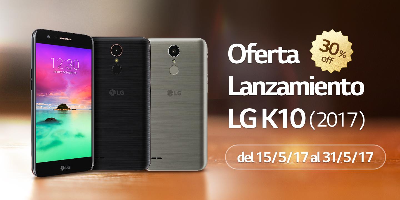[Oferta Lanzamiento LG K10 (2017) 30% OFF]